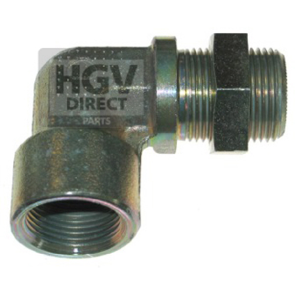 Metric Compresion Elbow Connector M22 x 1.5 To M22 x 1.5