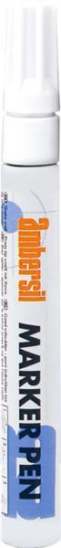 White AMBERSIL Acrylic Paint Marker Pen- 3mm Diameter Nib.
