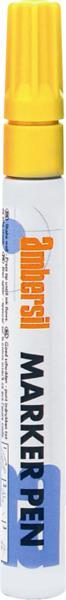 Yellow AMBERSIL Acrylic Paint Marker Pen- 3mm Diameter Nib.
