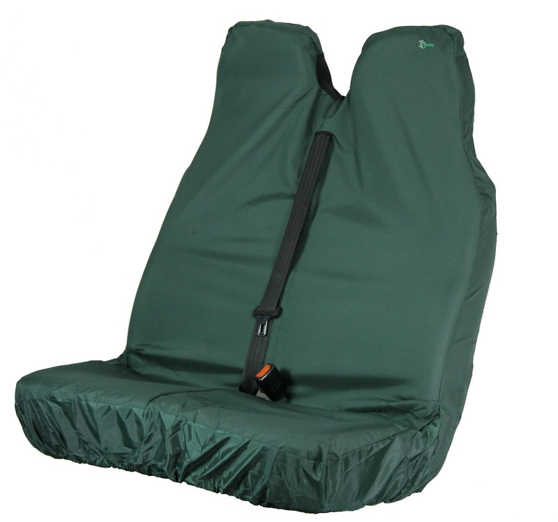 VAN PASSENGER DOUBLE SEAT COVER- GREEN
