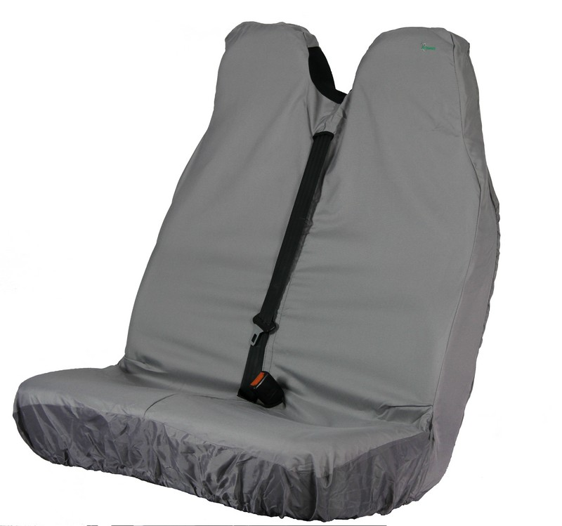 VAN STRETCH DOUBLE SEAT COVER (FOR LARGER FRONT DOUBLE SEATS)- GREY