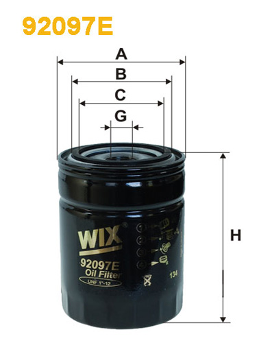 WIX HD OIL FILTER 92097E