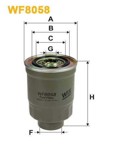 WIX FUEL FILTER METAL TYPE PIPES/THREAD WF8058