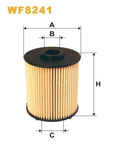 WIX FUEL FILTER CARTRIDGE PLASTIC ENDS WF8241