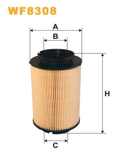 WIX FUEL FILTER CARTRIDGE PLASTIC ENDS WF8308