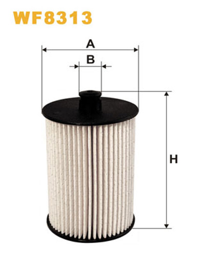WIX FUEL FILTER CARTRIDGE PLASTIC ENDS WF8313