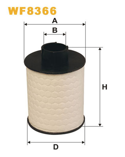 WIX FUEL FILTER CARTRIDGE PLASTIC ENDS WF8366