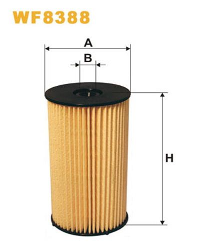 WIX FUEL FILTER CARTRIDGE PLASTIC ENDS WF8388