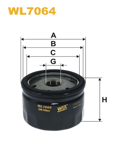 WIX OIL FILTER - SPIN-ON WL7064