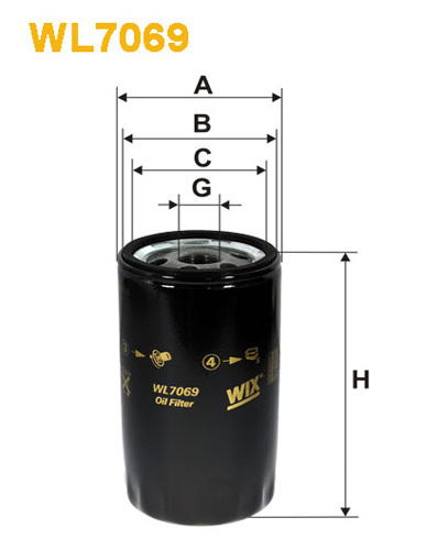 WIX OIL FILTER - SPIN-ON WL7069