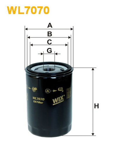 WIX OIL FILTER - SPIN-ON WL7070