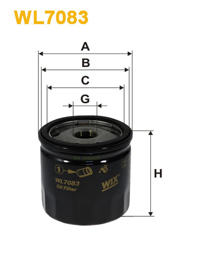 WIX OIL FILTER - SPIN-ON WL7083