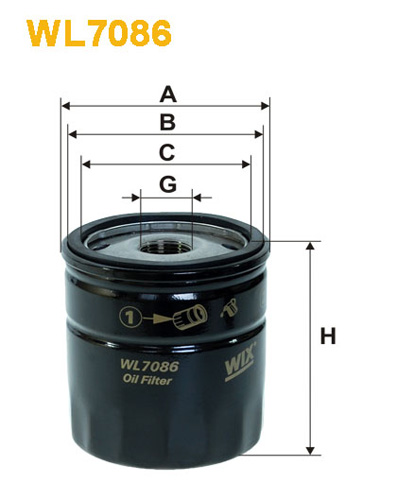WIX OIL FILTER SPIN-ON WL7086