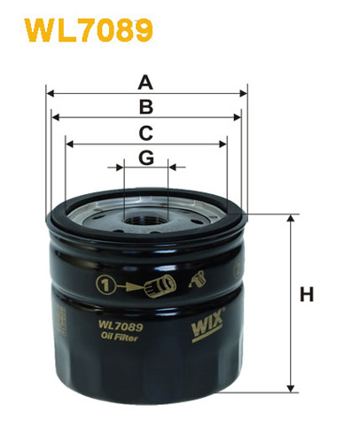 WIX OIL FILTER - SPIN-ON WL7089