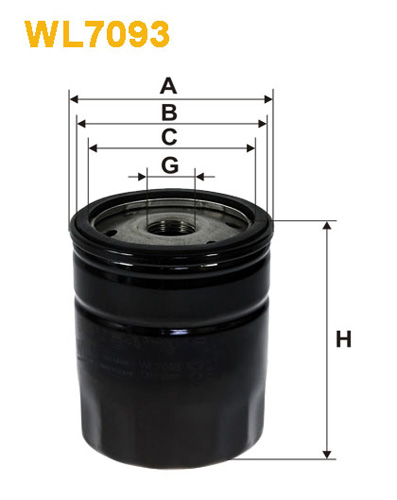 WIX OIL FILTER - SPIN-ON WL7093
