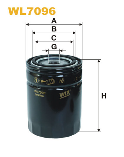 WIX OIL FILTER - SPIN-ON WL7096