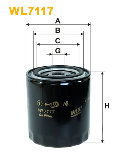 WIX OIL FILTER - SPIN-ON WL7117