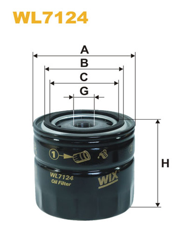 WIX OIL FILTER - SPIN-ON WL7124