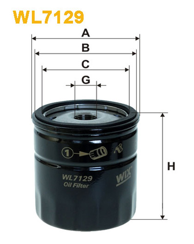 WIX OIL FILTER SPIN-ON WL7129