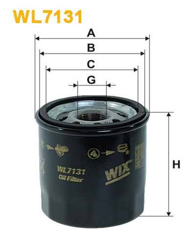 WIX OIL FILTER - SPIN-ON WL7131