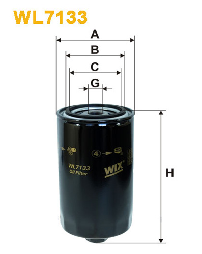 WIX OIL FILTER - SPIN-ON WL7133