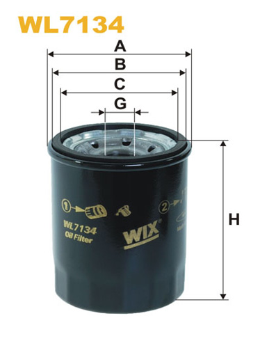WIX OIL FILTER - SPIN-ON WL7134