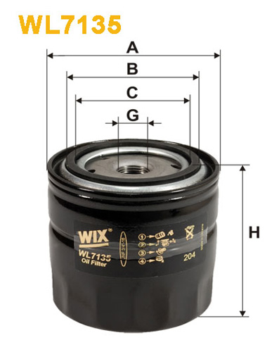 WIX OIL FILTER - SPIN-ON WL7135