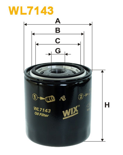 WIX OIL FILTER - SPIN-ON WL7143