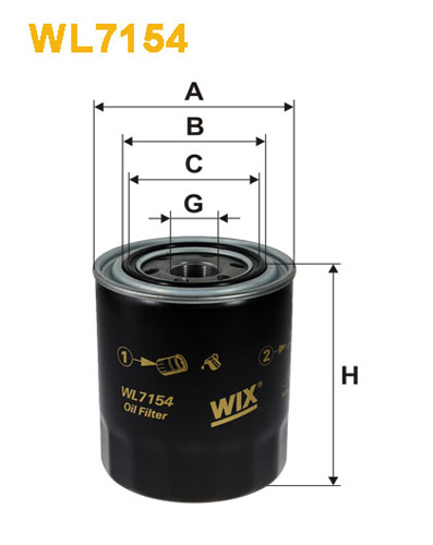 WIX OIL FILTER - SPIN-ON WL7154