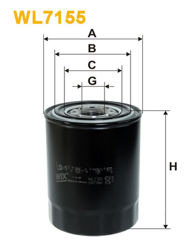 WIX OIL FILTER - SPIN-ON WL7155