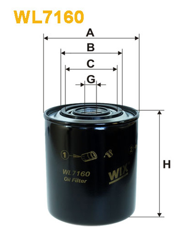 WIX OIL FILTER - SPIN-ON WL7160