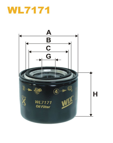 WIX OIL FILTER - SPIN-ON WL7171