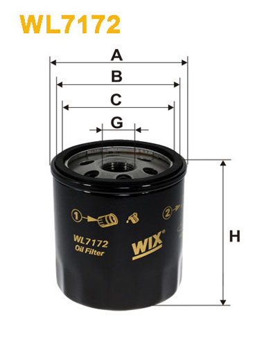 WIX OIL FILTER - SPIN-ON WL7172