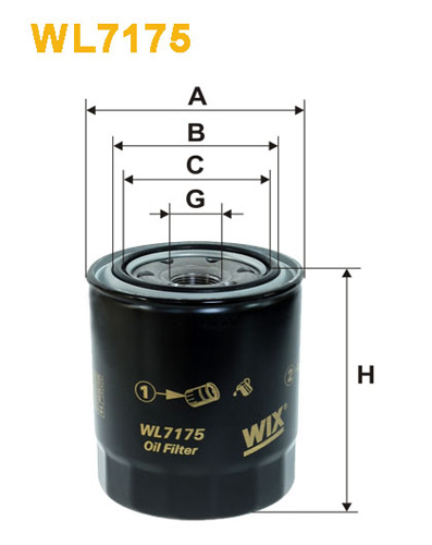 WIX OIL FILTER - SPIN-ON WL7175