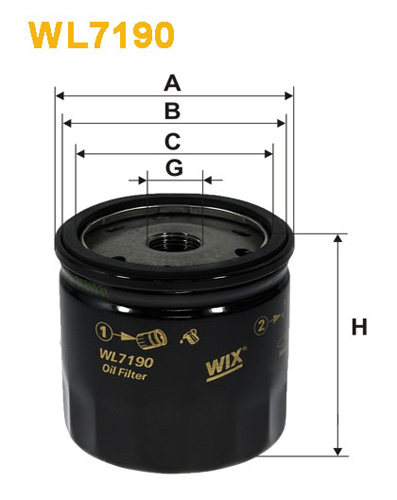 WIX OIL FILTER - SPIN-ON WL7190