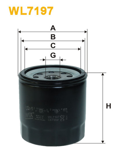 WIX OIL FILTER - SPIN-ON WL7197
