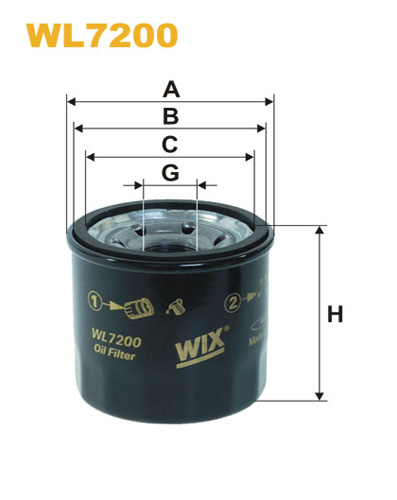 WIX OIL FILTER - SPIN-ON WL7200