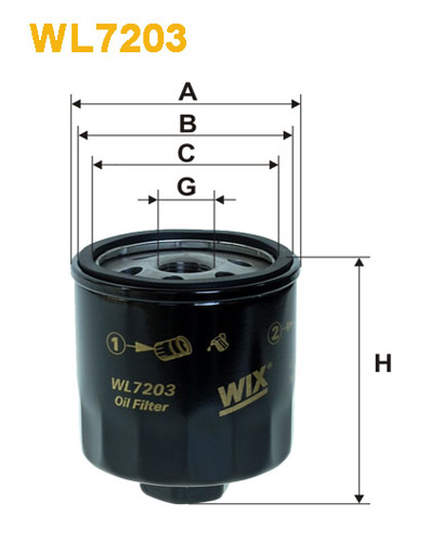 WIX OIL FILTER - SPIN-ON WL7203