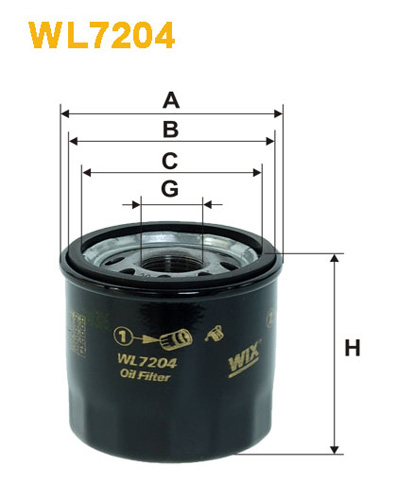 WIX OIL FILTER - SPIN-ON WL7204