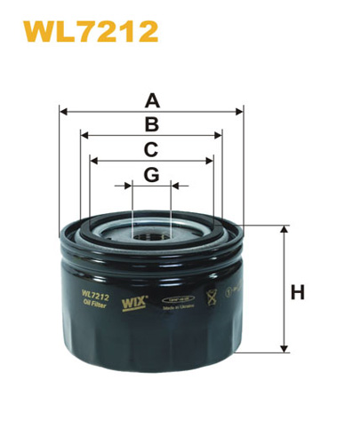 WIX OIL FILTER - SPIN-ON WL7212