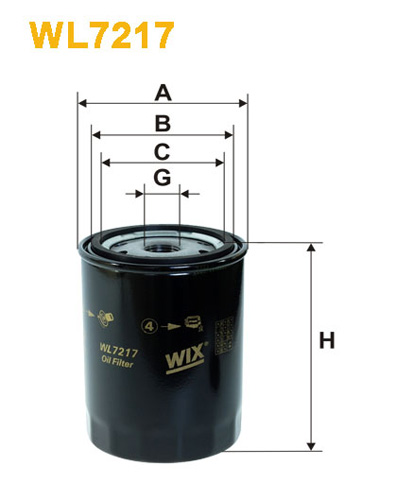 WIX OIL FILTER - SPIN-ON WL7217