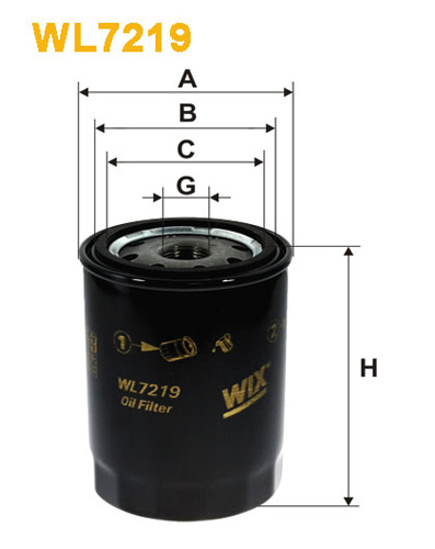 WIX OIL FILTER - SPIN-ON WL7219