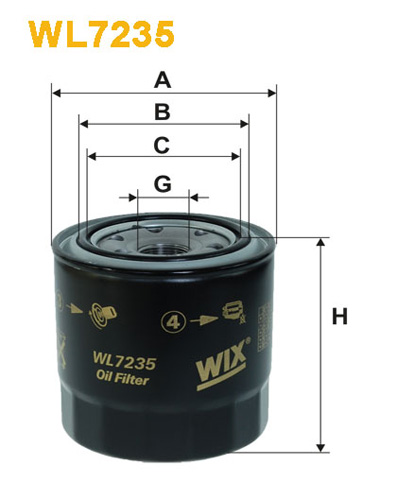 WIX OIL FILTER - SPIN-ON WL7235