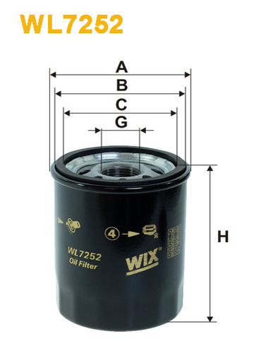 WIX OIL FILTER - SPIN-ON WL7252