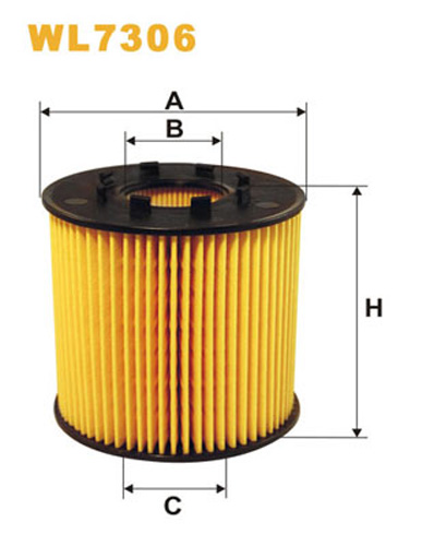 WIX OIL FILTER ECO CARTRIDGE WL7306