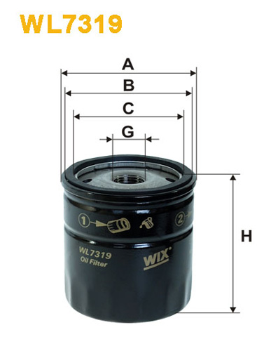 WIX OIL FILTER - SPIN-ON WL7319
