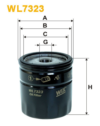 WIX OIL FILTER - SPIN-ON WL7323