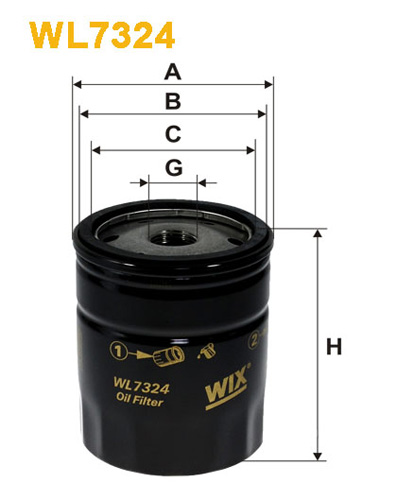 WIX OIL FILTER - SPIN-ON WL7324