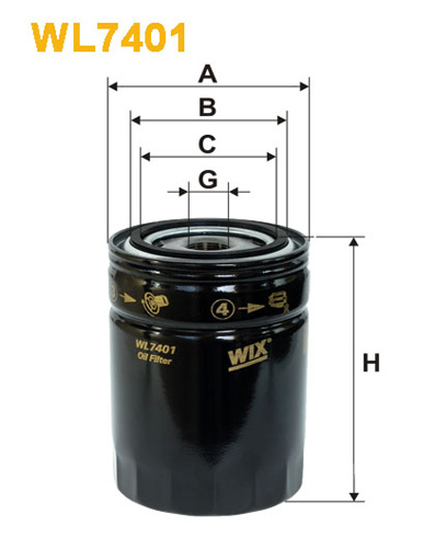 WIX OIL FILTER - SPIN-ON WL7401