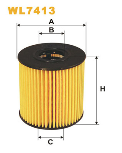 WIX OIL FILTER ECO CARTRIDGE WL7413